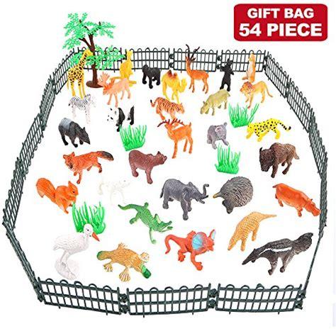 Gigo Animals Mini Educational Toys 3 animals figure 54 mini jungle animals toys set zoo world realistic vinyl pastic