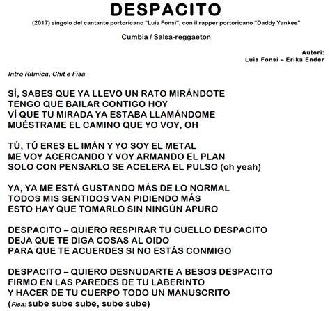 despacito note despacito donna cumbia salsa reggaeton basi audio