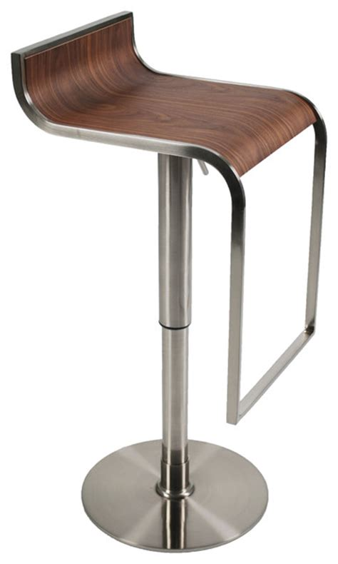 Counter Bar Stools Forest Bar Counter Stool Walnut Satin Contemporary