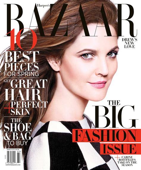 Harpers Bazaar Its Here by Drew Barrymore Dons Louis Vuitton For S Bazaar Us