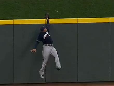 carlos gomez once again robbed joey votto of a home