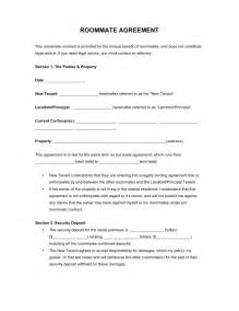 Free roommate room rental agreement form pdf word eforms