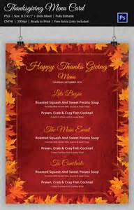 thanksgiving menu template 27 free psd eps format