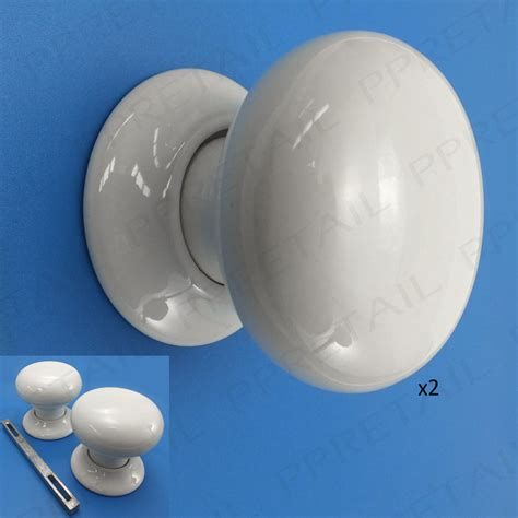 White Door Knobs by Ceramic Mortice Door Knob Set 60mm Classic White