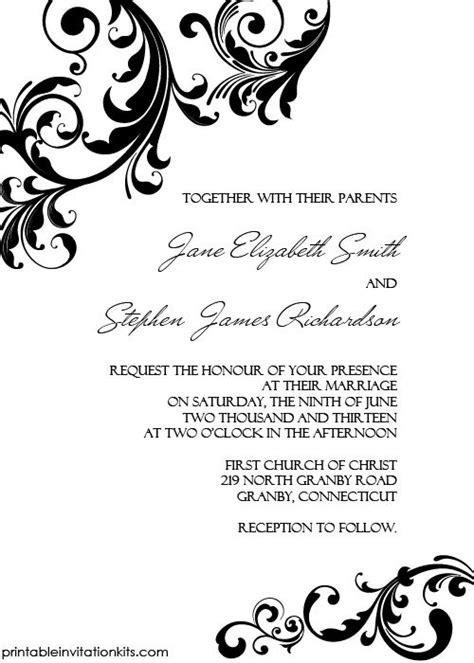 blank printable invitation kits 7 best visite uitnodigings kaarten images on pinterest