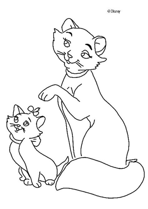 coloring pictures of cats and kittens the mother cat and her kittens coloring pages hellokids com