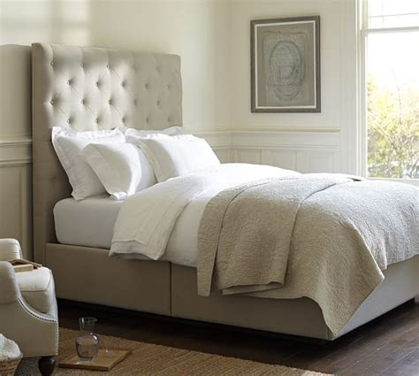 upholstered headboard sale 10 fab tufted and upholstered beds 15 off during pottery barn s upholstered bed sale candace