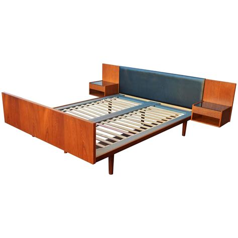 Teak Platform Bed Impeccable Hans Wegner Teak Size Platform Bed At 1stdibs