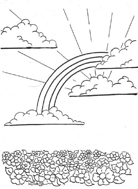 coloring pages field of flowers a sweet rainbow the flower field coloring page a