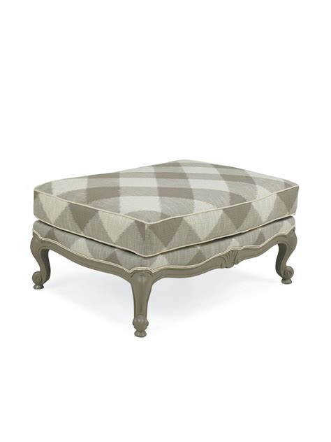 cottage style chairs and ottomans cape henry upholstered ottoman cottage home 174
