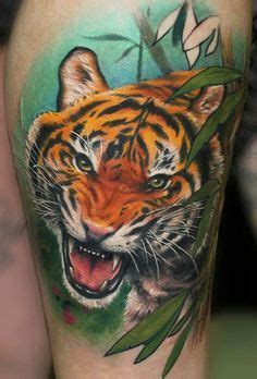 animal tattoo calgary 30 best tiger in jungle tattoo images on pinterest
