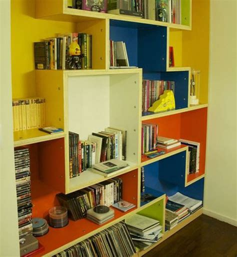 colorful tetris bookcase for a cheerful room freshome