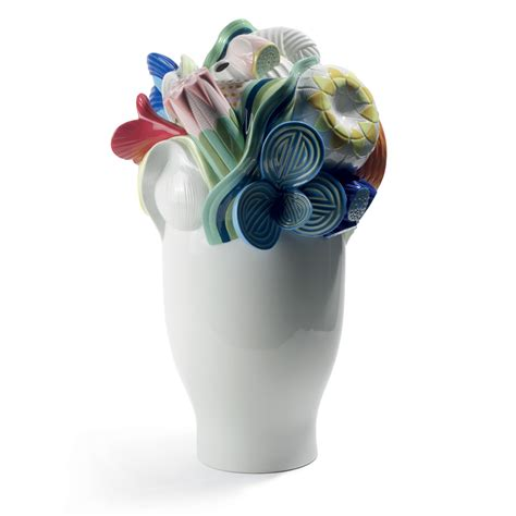 multi colored naturofantasic vase large 1007916 lladro vase