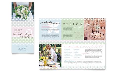 Wedding Event Planning Brochure Template Word Publisher Free Tri Fold Wedding Brochure Templates