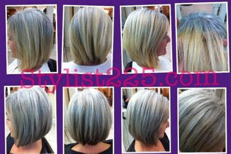 coloring gray hair before and after pin by kim diseker on gray hair pinterest