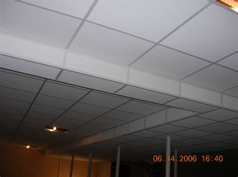White Painted Basement Ceiling Tiles For Low Basement Ceiling Tile Ideas For Basement