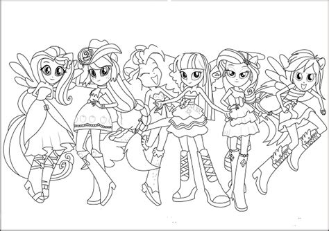 my little pony girls coloring pages