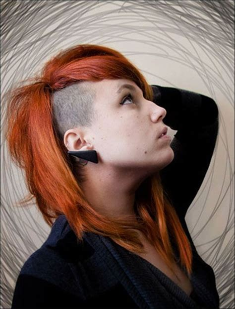 womens hair shaved just above ears 52 of the best shaved side hairstyles
