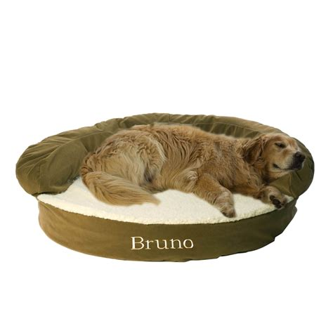 monogrammed dog bed carolina pet company sage green orthopedic bolster