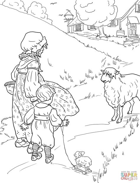 coloring page baa baa black sheep baa baa black sheep coloring page free printable