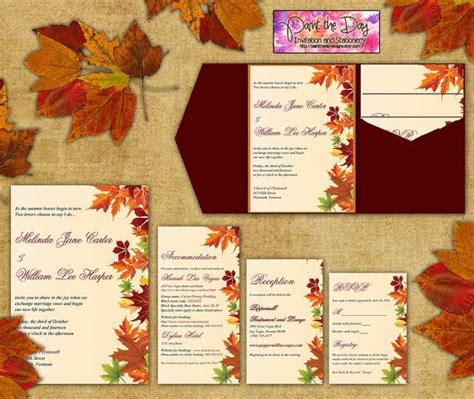 Fall Themed Wedding Invitations wedding invitation templates fall themed wedding