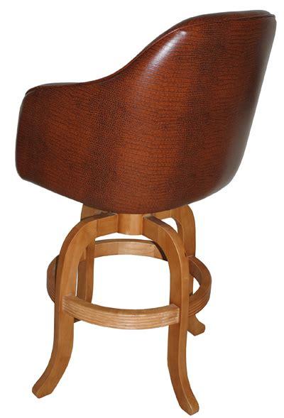 alfa bar stools custom upholstered jesse swivel arm stool wood base alfa