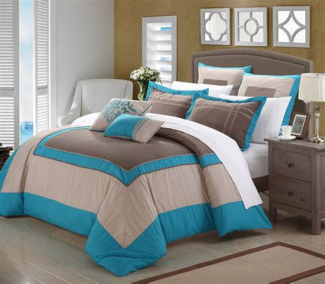 comforter sets teal teal and brown bedding