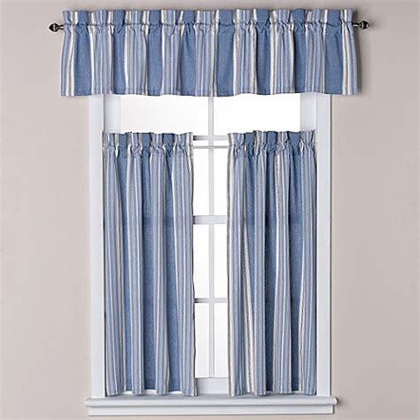 blue tier curtains savannah bath window curtain tier pair and valance in blue