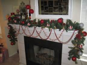 Christmas fireplace mantel decorations on decor with decorations