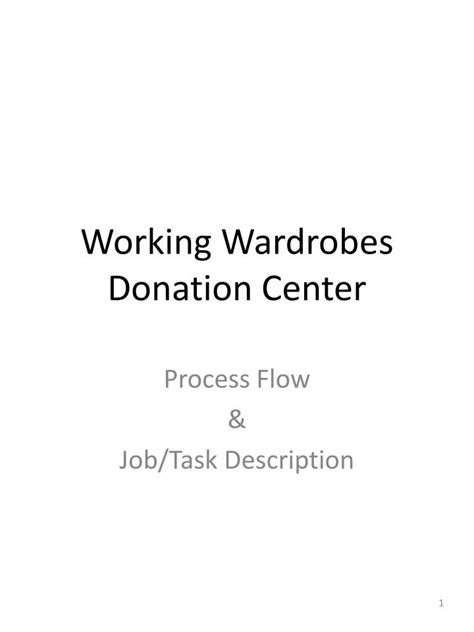 Working Wardrobes by Ppt Working Wardrobes Donation Center Powerpoint