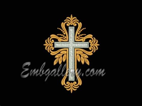 embroidery design cross quot cross quot 04 machine embroidery design