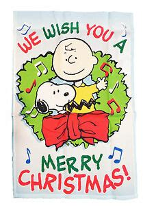 peanuts snoopy  charlie brown     merry christmas flag    ebay
