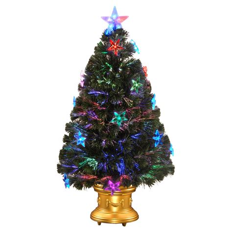 3 ft fiber optic xmas tree 3 ft fiber optic fireworks pre lit led medium tree trees at hayneedle