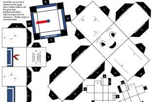 Papercraft Ghost - cube casper ghost papercraft