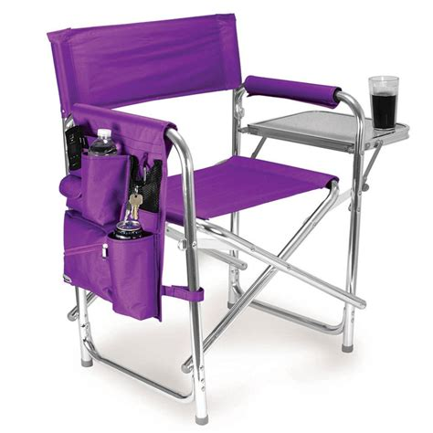 purple folding chair sports chair purple picnic time 809 00 101 folding