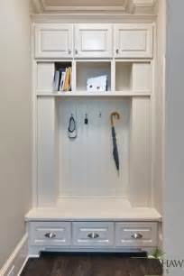 Small Space Entryway Furniture - beadboard bench traditional laundry room blake shaw