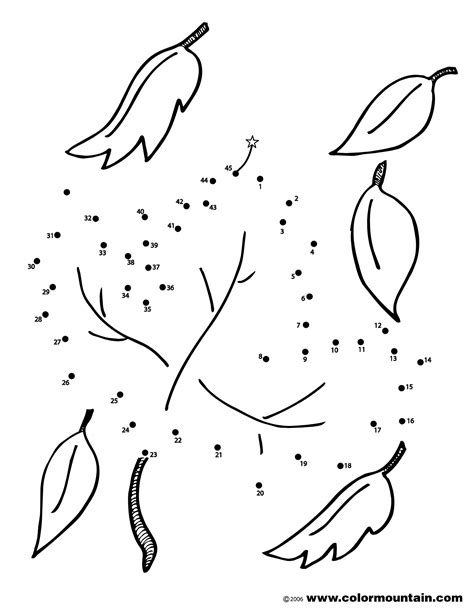 Dotted Leafs 1 abc dot to dot coloring pages coloring pages