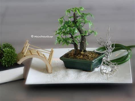 mini zen garten bedeutung mini bonsai im dunkelgr 252 nen keramikt 246 pfchen f 252 r zen