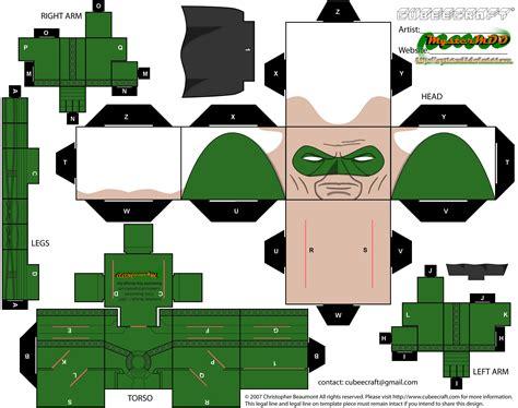 Papercraft Lantern - kingdom come green lantern alan paper free