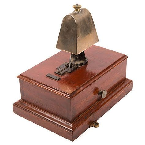 Box Bell C 26 a railway signal box block bell an exle in a mahogany ca