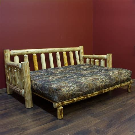 log futon bed cedar lake cabin easy glide log futon
