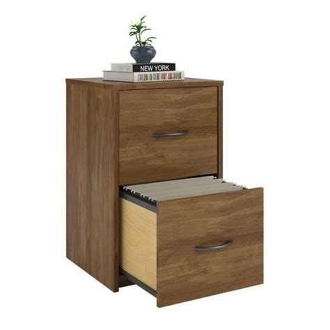 2 drawer wood vertical file cabinet in oak 9524301pcom