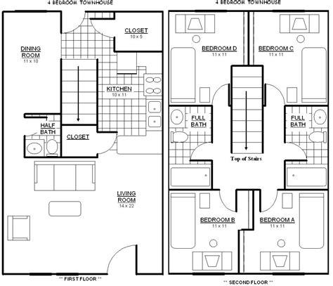 townhouse floor plan luxury
