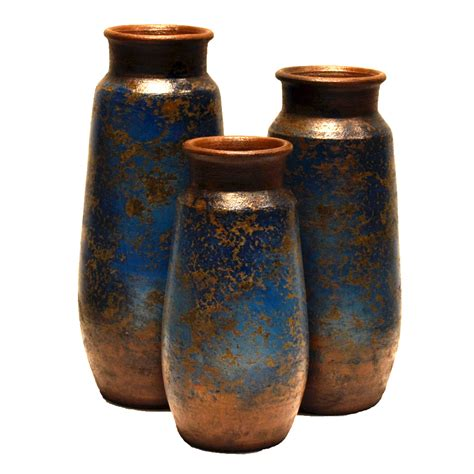 3 Vase Set by San Juan Cobalt Vases Set Of 3