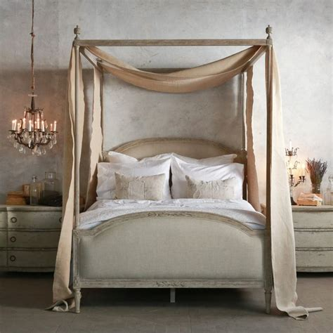 four post canopy bed minimalist romantic style bedroom decorating ideas