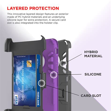 for apple iphone 8 plus defender rugged armor kickstand clip holster ebay