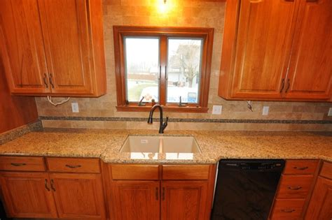 pictures of kitchen countertops and backsplashes granite countertops and tile backsplash ideas eclectic