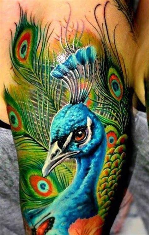 meravigliosi tatuaggi con pavoni foto e significato
