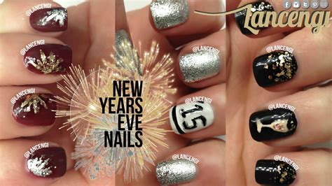 new year simple nail diy easy new years nail use glitter on