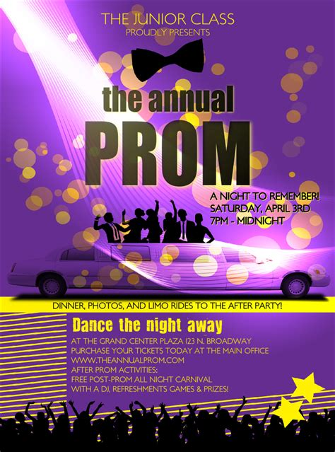 Prom Limo Flyer Prom Ticket Template Free